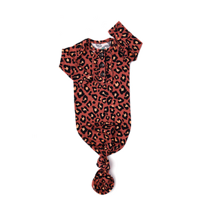 Sienna Leopard Ruffle GOWN - Gigi and Max