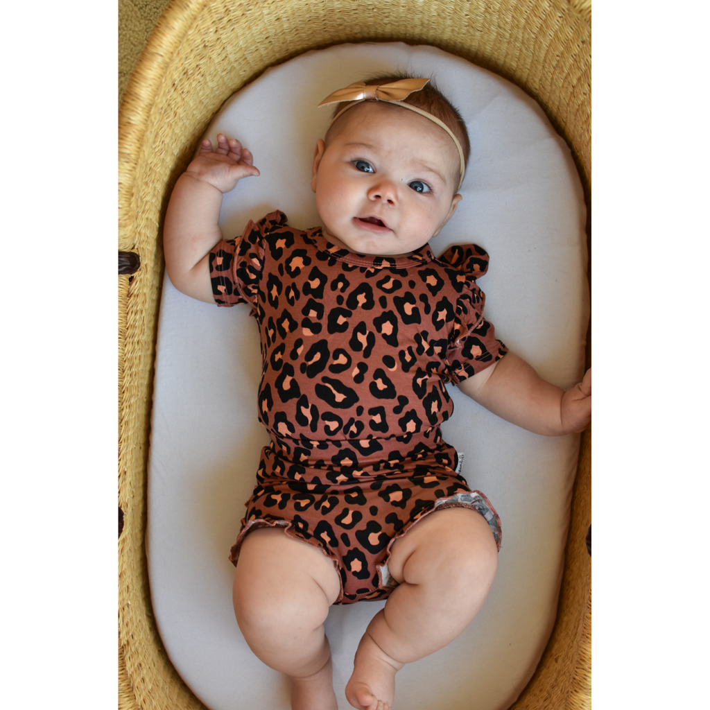 Sienna Leopard Ruffle BUMMIES - Gigi and Max