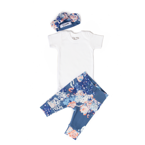 Slate Floral - Short Sleeve - Gigi and Max