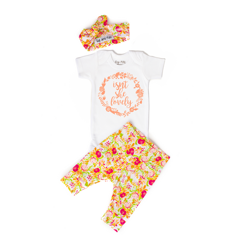 Isn't she Lovely Spring Floral Newborn Outfit - Gigi and Max
