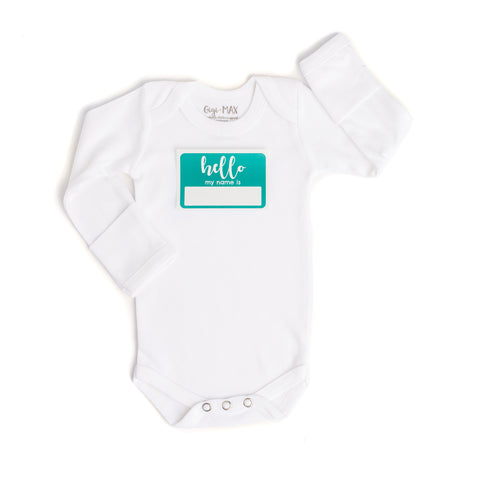 sticker teal - long sleeve - Gigi and Max
