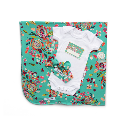 Hello Summer Bundle - Teal Floral - Gigi and Max