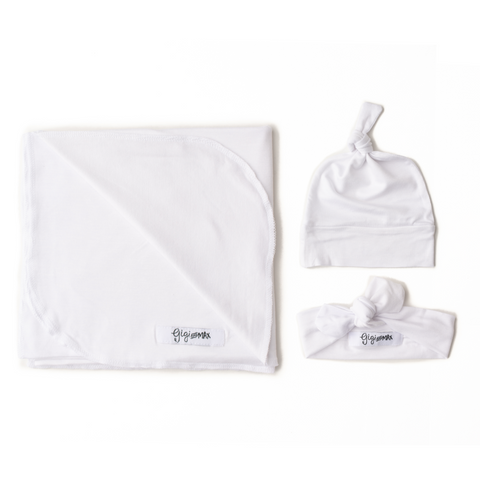 White Snow Lightweight Swaddle blanket - Gigi and Max