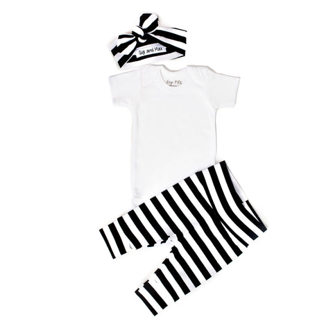 Wide Stripe - Short Sleeve - Gigi and Max