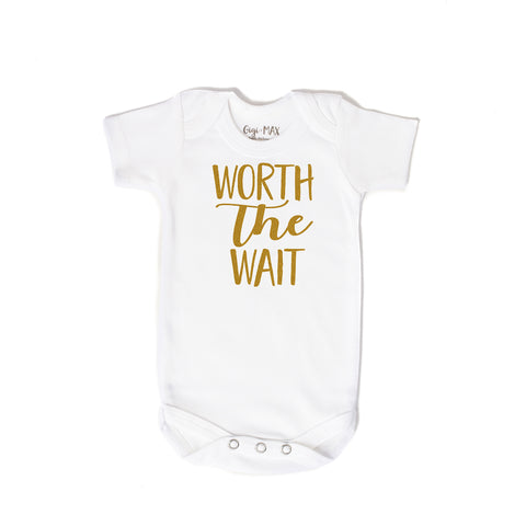 worth the wait gold - short sleeve - Gigi and Max