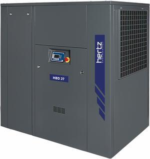 Hertz 50 HP Rotary Screw Air Compressor 220 CFM, 230/460 Volt 3 Phase | HBD 37