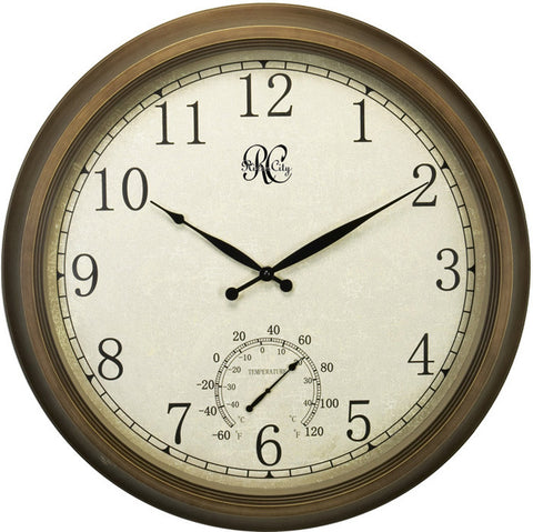 "24"" Indoor/Outdoor Brass Clock"