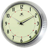 "9.5"" Retro Round Metal Wall Clock (Turquoise)"