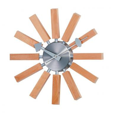 "14"" George Nelson Wood Spokes Clock"