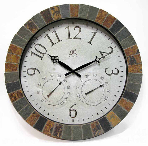 The Inca Indoor/Outdoor Mosaic Wall Clock