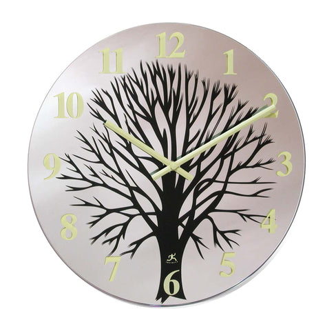 Topiary Glass Wall Clock