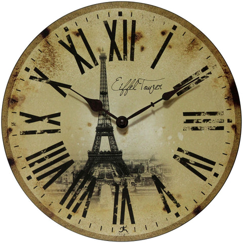 "14"" Eiffel Tower Wall Clock"