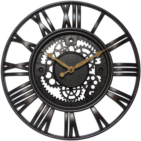 "15"" Roman Gear Wall Clock"
