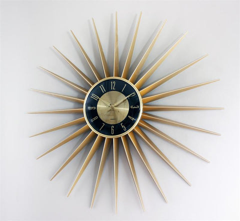 "24"" George Nelson Sunburst Clock"