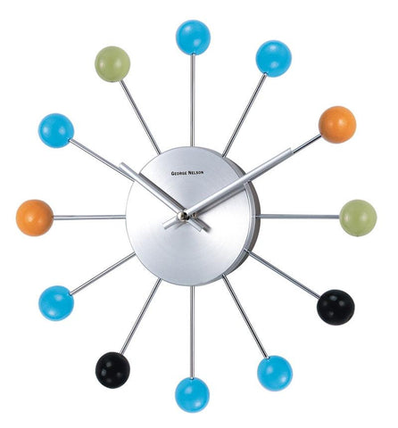 "13"" George Nelson Piccolo Ball Wall Clock"