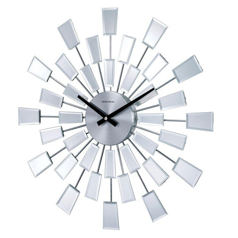 "19"" George Nelson Mirrored Pixels Wall Clock"