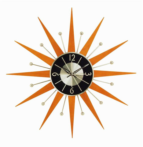 "19"" George Nelson Wooden Crown Wall Clock"