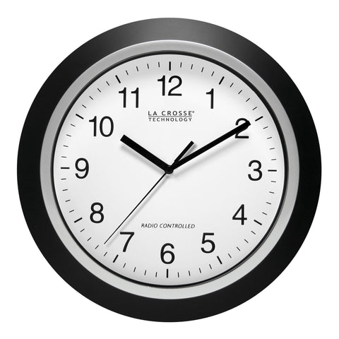 "12 "" Atomic Wall Clock Black"