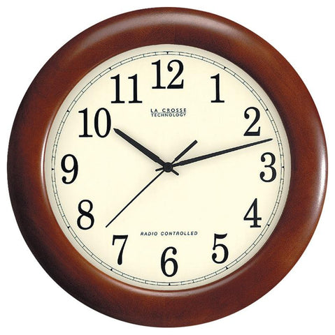 "12.5 "" Atomic Wall Clock Wooden"