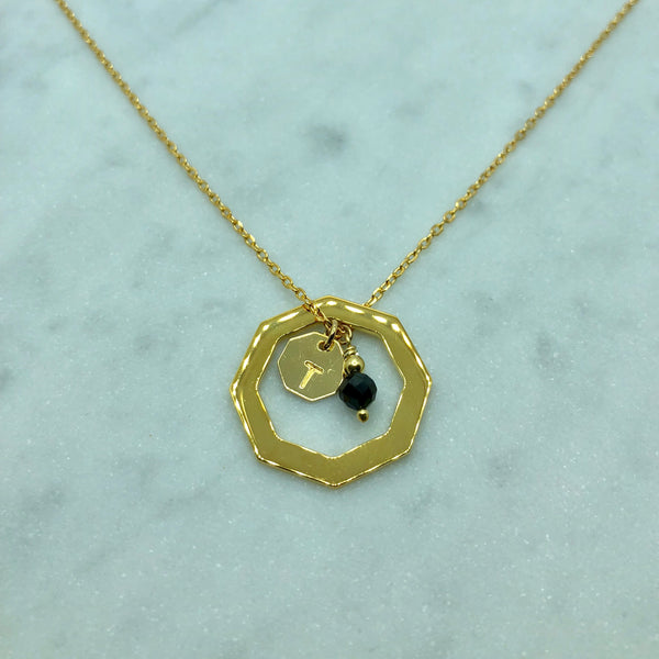Letter necklace Gold Plated