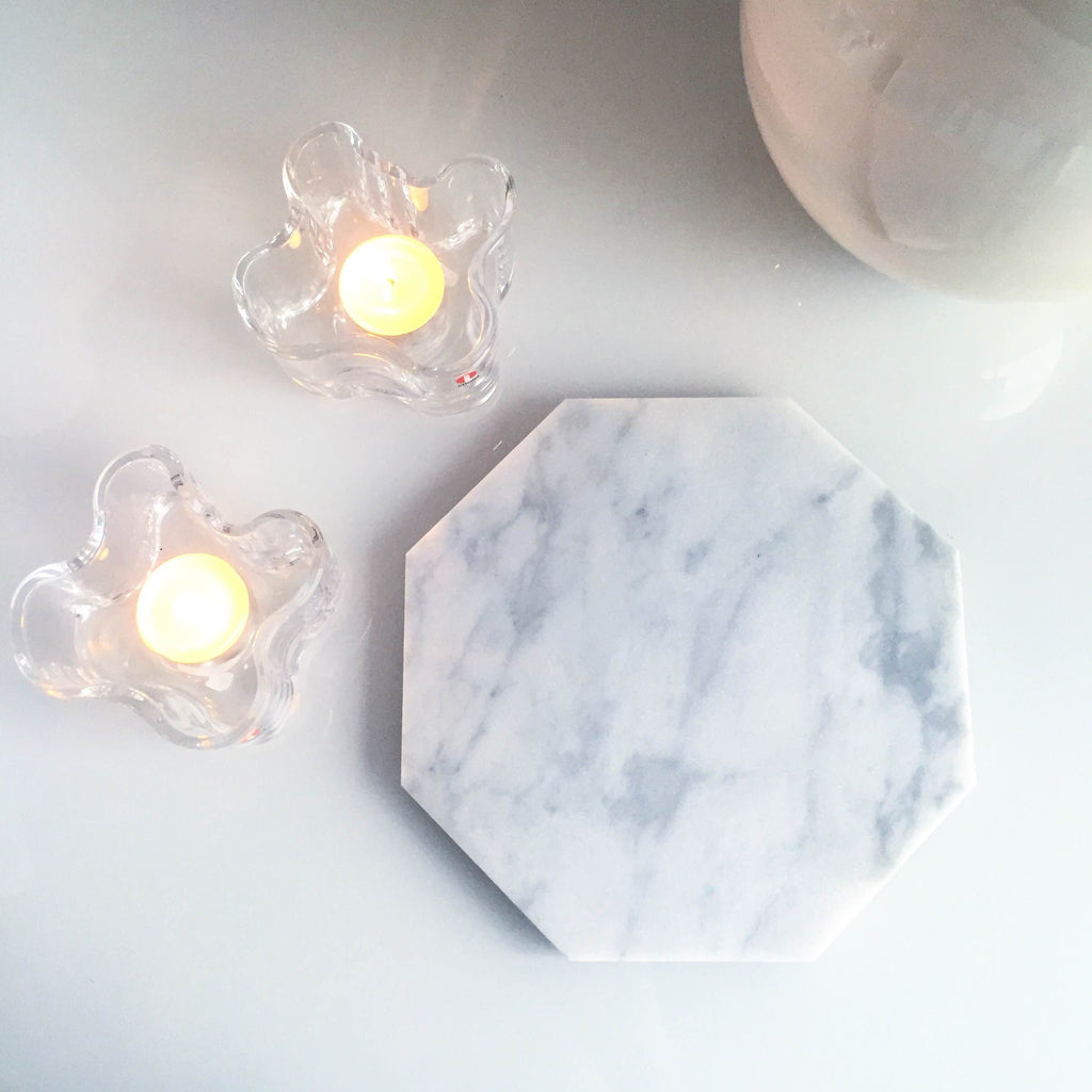 Octagon Marble Plate