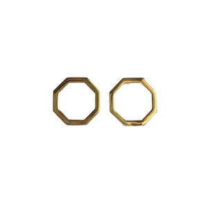 Octagon earrings