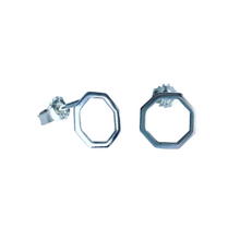 Load image into Gallery viewer, Octagon earrings
