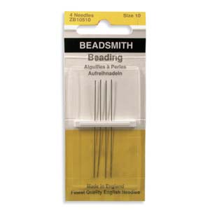Beading Needles Size 10 4pk Beadsmith - The Bead N Crystal & Enclave Gems