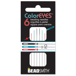 Beading Needles- Color Eyes 6pc