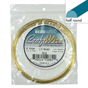Craft Wire - Gold Half Round 18g & 21g