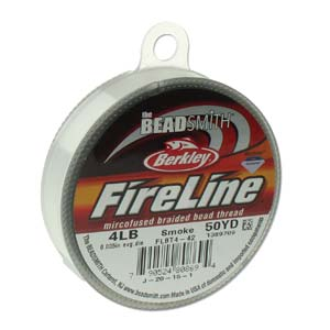 Fireline Beading Thread - Smoke 50yd