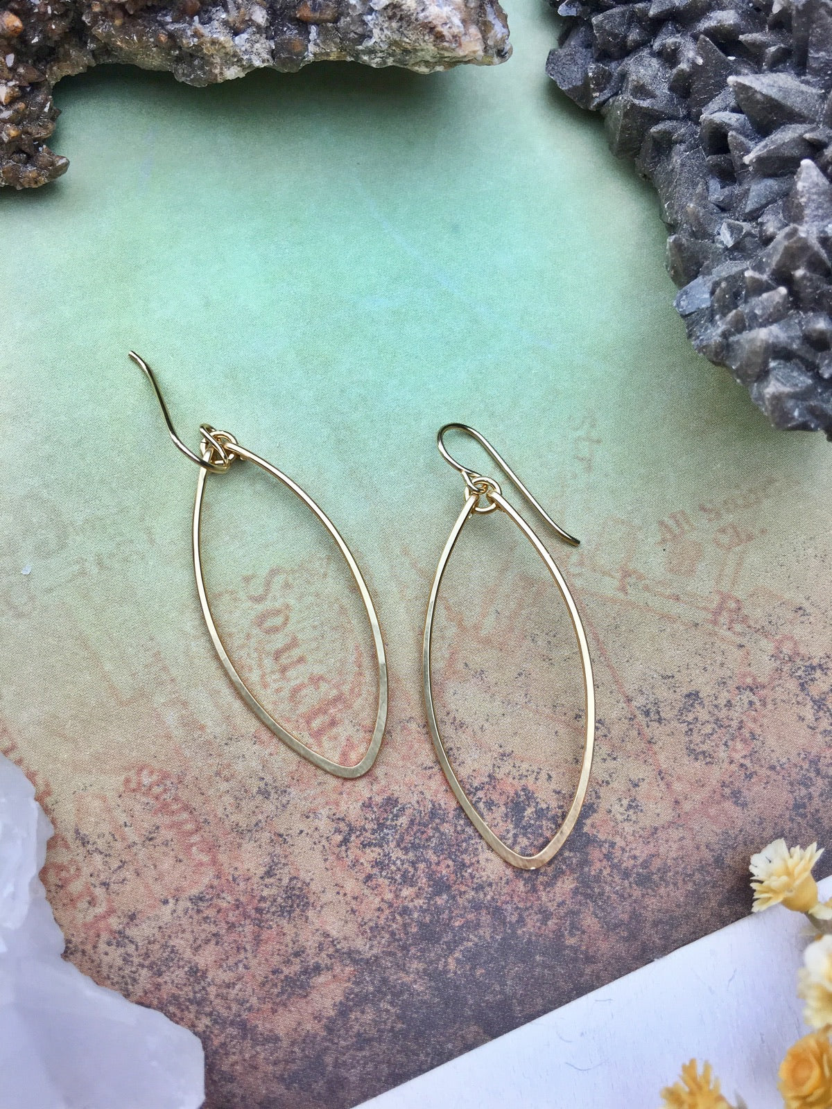 Sans-Stone - Soft Diamond Earrings - 14k Gold Fill