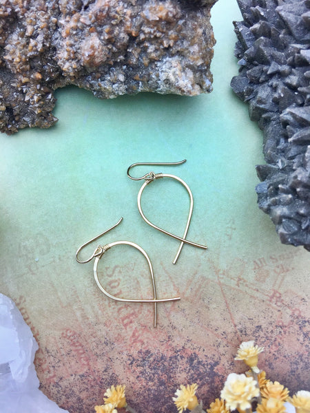 Sans-Stone - Fishtail Earrings - 14k Gold Fill