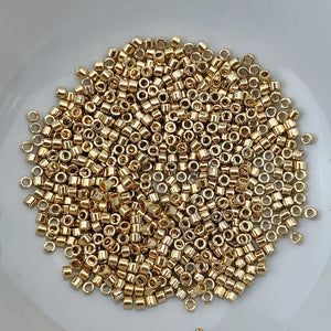 11/0 Delica - 24kt Gold Light Plated DB0034 - The Bead N Crystal & Enclave Gems