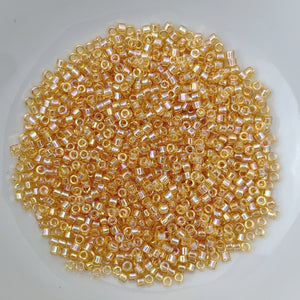 11/0 Delica - Light Topaz AB DB0100 - The Bead N Crystal & Enclave Gems