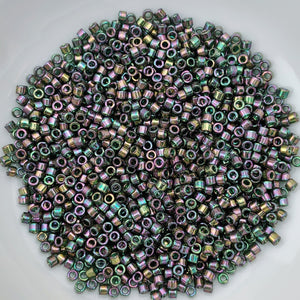 11/0 Delica - Forest Green Rainbow Gold Luster DB0127 - The Bead N Crystal & Enclave Gems