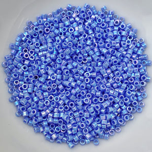 11/0 Delica - Med Blue AB DB0167 - The Bead N Crystal & Enclave Gems