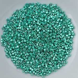 11/0 Delica - Galvanized Dark Mint Green DB0426 - The Bead N Crystal & Enclave Gems
