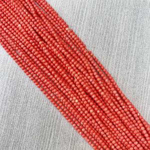 Coral 2 mm - The Bead N Crystal & Enclave Gems