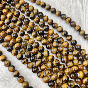 Tiger's Eye 10 mm - The Bead N Crystal & Enclave Gems