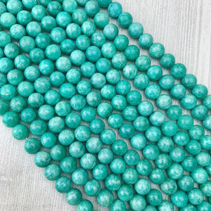 Russian Amazonite 10 mm - The Bead N Crystal & Enclave Gems
