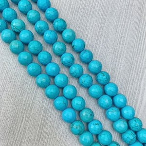 Turquoise Magnacite (faceted) 10 mm - The Bead N Crystal & Enclave Gems