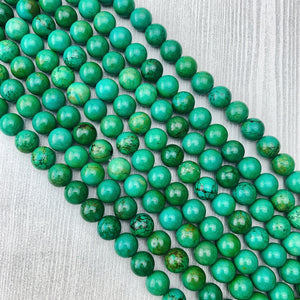 Turquoise, Green (Hubei) 10 mm - The Bead N Crystal & Enclave Gems