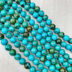 Hubei Turquoise 12 mm - The Bead N Crystal & Enclave Gems