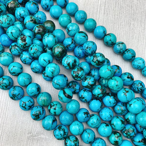 Hubei Turquoise 14 mm - The Bead N Crystal & Enclave Gems