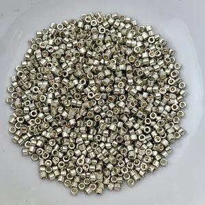 11/0 Delica - Duracoat Galvanized Lt Smoky Pewter DB1851 - The Bead N Crystal & Enclave Gems