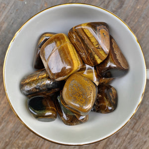 Tiger's Eye Tumbled Stones (Set of 3) - The Bead N Crystal & Enclave Gems