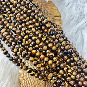 Tiger's Eye 6 mm - The Bead N Crystal & Enclave Gems