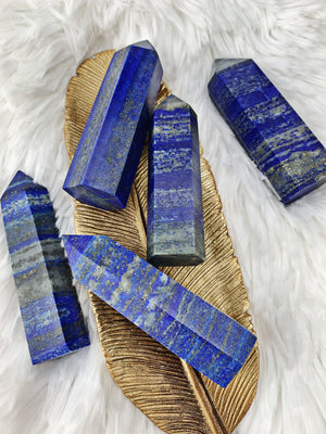 Lapis Lazuli Towers (Med) (424) - The Bead N Crystal & Enclave Gems