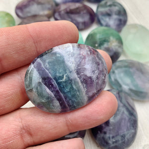 Fluorite Palm Stones (243) - The Bead N Crystal & Enclave Gems